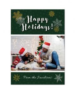 Snowflakes Happy Holidays Card