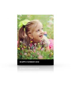 Black & White Father's Day Card