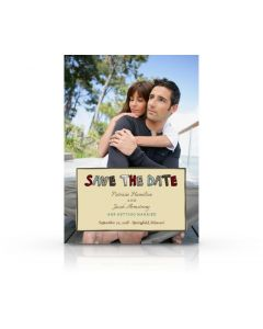 Collage Save The Date Card