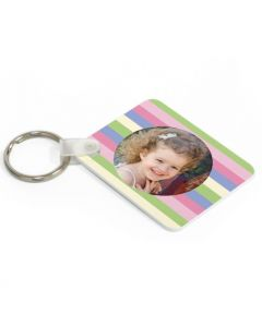 Sherbet Stripes Keytag