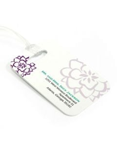 Pop Flowers Luggage Tag