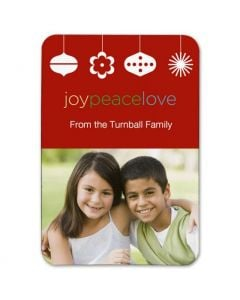Joy Peace Love 2.5X3.5 Magnet