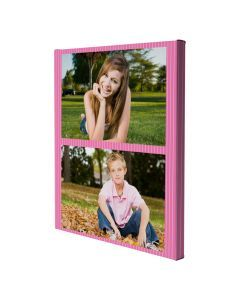 Pink Pinstripes Wrapped Canvas Print