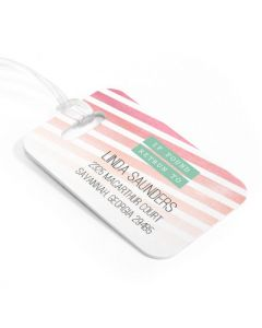 Watercolor Luggage Tag