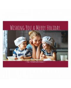Red Holiday Card