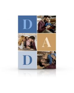 Large Letters Father's Day Card