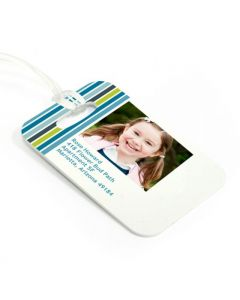 Blue Stripes Luggage Tag