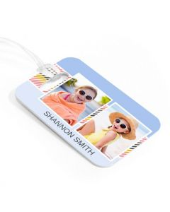 Candy Stripe  Luggage Tag