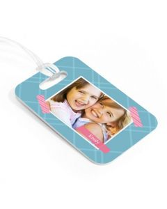 Patterned Tape Luggage Tag