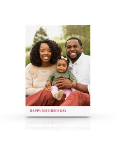 Pink & White Mother's Day Card