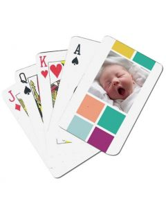 Dancing Letters Custom Playing Cards
