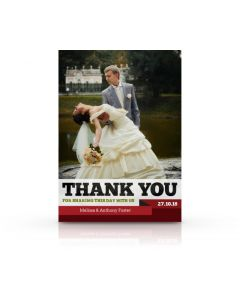 Red Ribbon Thank You Card