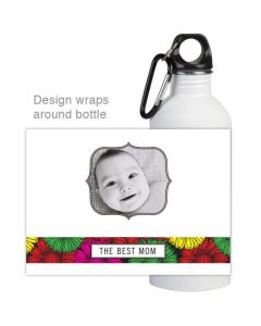 Mom Flower Water Bottle