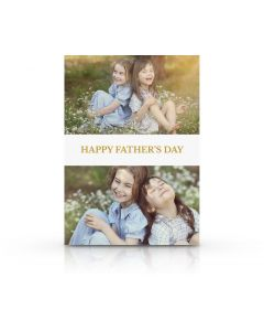 White & Gold Father's Day Card