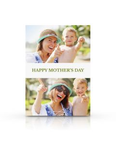 White & Green Mother's Day Card